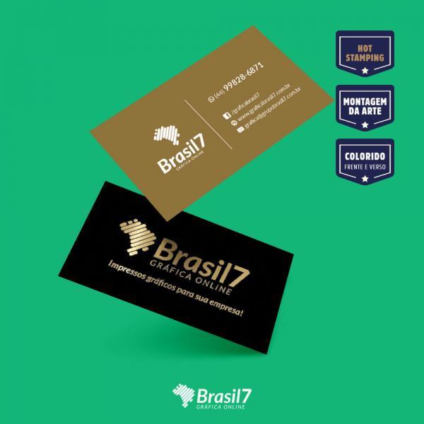Cartão de visita Luxo HotStamping
