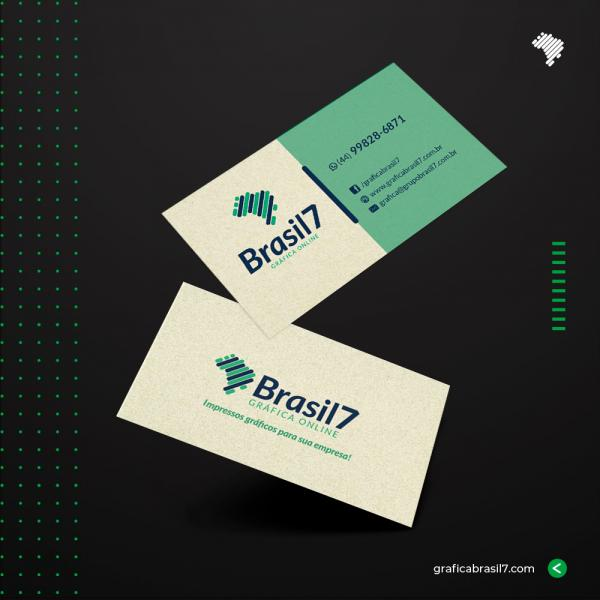 Cartão de visita Reciclado 9x5cm - Corte Reto