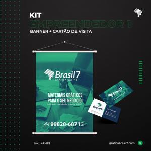 Kit Empreendedor 1 1 Banner 70x100cm + 1000 Cartão de visita simples K-EMP1
