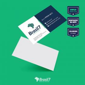 100 Cartão de Visitas simples, 9x5, impressão colorida frente Couche 250g 9x5 cm 4x0 impressão colorida frente