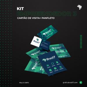 Kit Empreendedor 3 1000 Cartão de visita simples + 2500 Panfletos 10x14cm K-EMP3