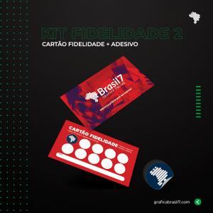 KIT FIDELIDADE 2 1000 Cartão Fidelidade simples + 1000 Adesivo fidelidade 1,2x1,2cm K-FID2