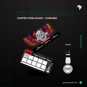 Kit Fidelidade 1 1000 Cartão Fidelidade simples + Carimbo Nykon C-12 K-FID1