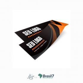 Adesivos em vinil para Parachoque Vinil Branco 120g 29,7x8,7 cm 4x0 impressão colorida frente