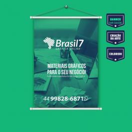 Banner 40x60 cm Lona Brilho 340g 40x60 cm 4x0 - Colorido Frente