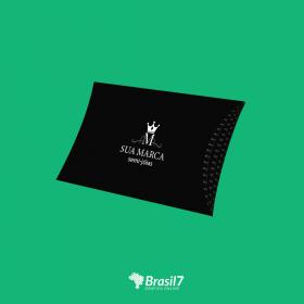 Caixa pequena almofada/travesseiro para presente ou semijóias personalizada Couche 300g 15x12cm 4x0 impressão colorida Verniz total faca padrão