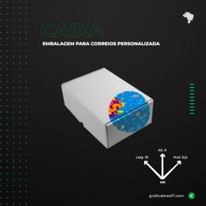 Caixa para Correios 18X9X13 cm inteira personalizada Papelão Onda E (Branco) L 18 x A 9 x  P 13,5 4x0 impressão colorida externa Sem Verniz  Suporta até 5kg