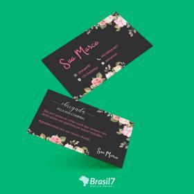 Cartão de Agradecimento ao cliente Mod CA-1A 9x5cm Couche 250g 9x5 cm 4x4 impressão colorida frente e verso Verniz total frente Corte Reto