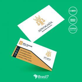 Cartão de visita Advogado | Modelo C-ADV1 Couche 300g 9x5 cm 4x4 impressão frente e verso Laminação Fosca + Verniz Localizado Corte Reto