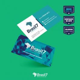 Cartão de visita Básico Couche 300 g 9x5 4x4 impressão frente e verso Verniz Total Frente Corte reto