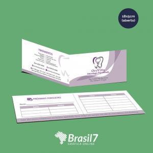 Cartão de Visita Duplo 18x5 cm Couche 250g 18x5 cm 4x4 Impressão Colorido Frente e Verso verniz total frente Corte reto + Vinco central