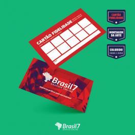 Cartão Fidelidade Couche 250 g 9x5 4x4 impressão frente e verso Verniz Total Frente Corte reto