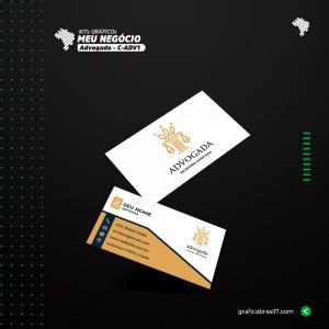 Cartão de visita para Advogado | C-ADV1 Couche 300g 9x5 cm 4x4 impressão frente e verso Laminação Fosca + Verniz Localizado Corte Reto