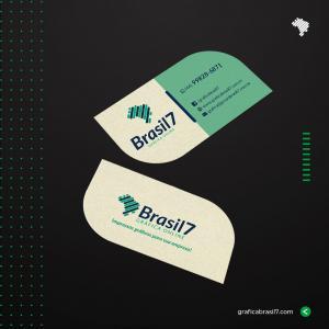 Cartão de visita Reciclado 9x5cm - Corte Folha Reciclato 240g 9x5 cm 4x4 impressão colorida frente e verso Sem Verniz Corte Folha