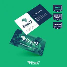 Cartão de visita Simples Couche 250 g 9x5 4x4 impressão frente e verso Verniz Total Frente Corte reto