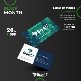 1000 Cartão de visita Simples [PROMO] Couche 250g 9x5 4x4 impressão colorida frente e verso Verniz Total Frente Corte reto