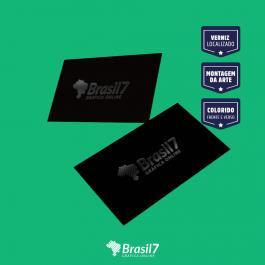 Cartão de visita Verniz Localizado Couche 300g 9x5 cm 4x4 impressão frente e verso Laminação Fosca + Verniz Localizado Corte Reto