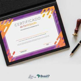 Certificado em Couche Brilho Couche Brilho 300g A4 - 21x29 cm 4x0 Impressão frente colorida sem coberturas