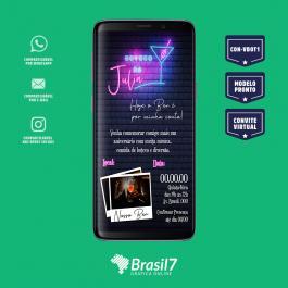 Convite digital, virtual, online com Modelo Boteco Digital