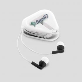 Fone de Ouvido Personalizado Plástico altamente resistente Estojo com 6,3x6,3 cm 4x0 Personalização colorida na tampa do estojo