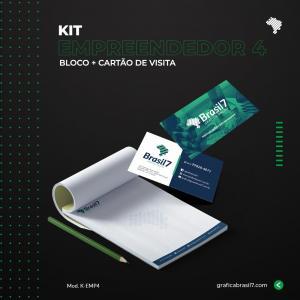 Kit Empreendedor 4 Receituário 15x21 cm + cartão de visitas simples K-EMP4