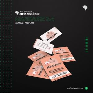 Kit Hortifruti 3.4 1000 Cartão de visita simples + 2500 Panfletos 10x14cm K-MAN3-4