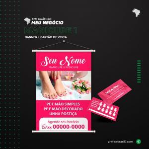 Kit Manicure 1 1 Banner 60x90cm + 1000 Cartão de visita simples K-MAN1