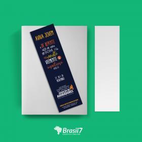 Marcadores de livros marca-página  5x18 cm 4x0 Impressão só frente Verniz Total Frente Corte Reto