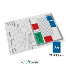 Plotagem de Projetos - Plotagem Full Color A4 Couche 170g A4 - 21x29 cm 4x0 Impressão frente colorida Sem Verniz Incluso Material Dobrado Orientação Paisagem