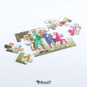 Quebra-Cabeça em Manta Magnética | Imã Manta Magnética 0,3mm 10x14 cm 4x0 Impressão frente colorida Verniz total frente Faca Padrão - 15 peças