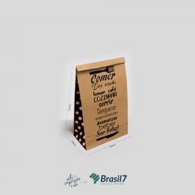 Saco Kraft para Delivery - MOD 2 KRaft 110g Saco 31x10x18 cm   Modelo Padrão - Não personalizável