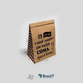 Saco Kraft para Delivery - MOD 3 KRaft 110g Saco 34x14x24 cm   Modelo Padrão - Não personalizável