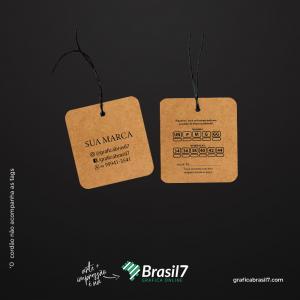 Tags em papel Kraft - 4 cantos arredondados 4,5x5cm Kraft 300g 4,5x5 cm 4x4 impressão colorida frente e verso Sem Verniz Furo 3 mm